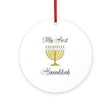 My First Hanukkah Ornament (Round)
