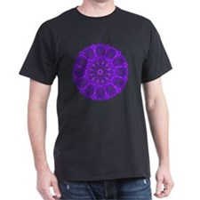 Purple Fire Wheel Mandala T-Shirt