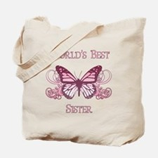 World's Best Sister (Butterfly) Tote Bag