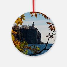 Split Rock Lighthouse Round Ornament