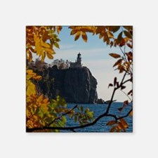 "Split Rock Lighthouse Square Sticker 3"" x 3"""