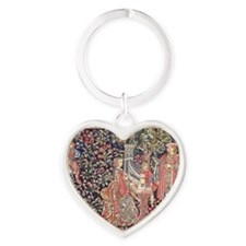 Royal Tapestry Heart Keychain