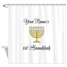 Custom 1st Hanukkah Shower Curtain