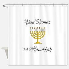 Custom 1st Hanukkah Shower Curtain