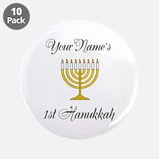 "Custom 1st Hanukkah 3.5"" Button (10 pack)"