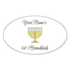 Custom 1st Hanukkah Decal