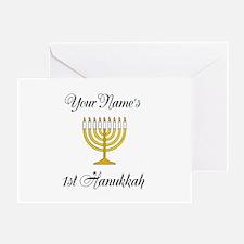 Custom 1st Hanukkah Greeting Card