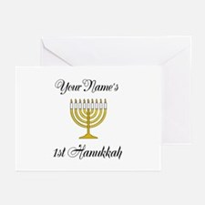 Custom 1st Hanukkah Greeting Cards (Pk of 20)