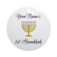 Custom 1st Hanukkah Ornament (Round)