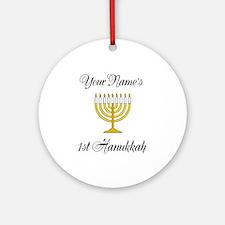 Custom 1st Hanukkah Ornament (Round)