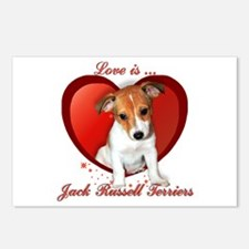 Jack Russell Heart Postcards (Package of 8)