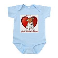 Jack Russell Heart Infant Bodysuit