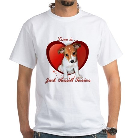 Jack Russell Heart White T-Shirt