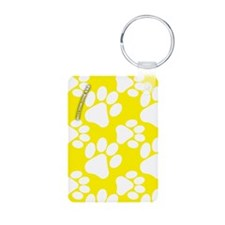 Dog Paws Yellow Keychains