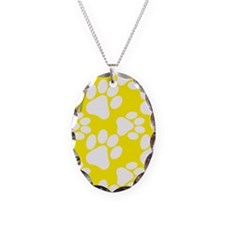 Dog Paws Yellow Necklace