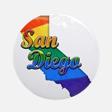San Diego Round Ornament