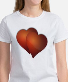 DOUBLE LOVE RED HEARTS Women's T-Shirt
