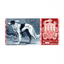 Vintage 1956 San Marino Bor Aluminum License Plate