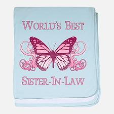 World's Best Sister-In-Law (Butterfly) baby blanke