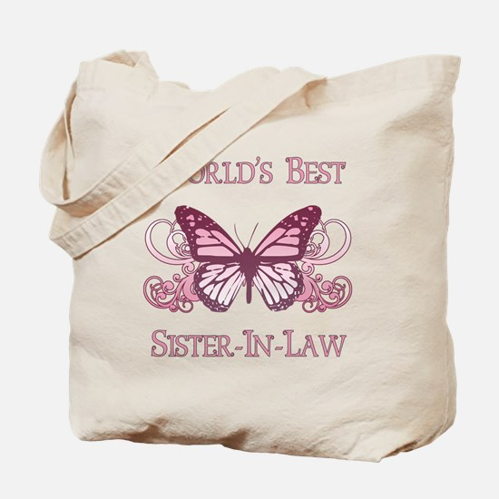 World's Best Sister-In-Law (Butterfly) Tote Bag