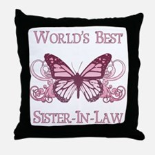 World's Best Sister-In-Law (Butterfly) Throw Pillo