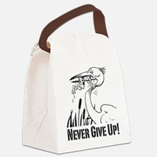Never Give Up! Canvas Lunch Bag