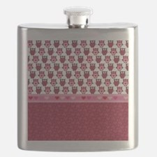 Heart and Owls Flask
