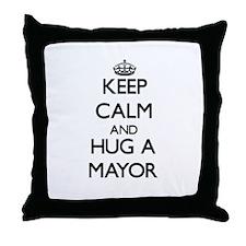 Keep Calm and Hug a Mayor Throw Pillow