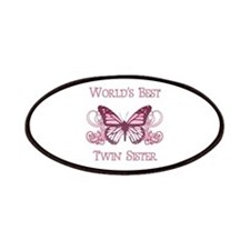 World's Best Twin Sister (Butterfly) Patches