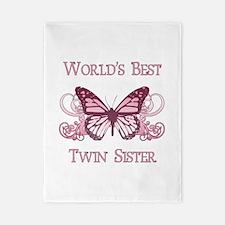 World's Best Twin Sister (Butterfly) Twin Duvet