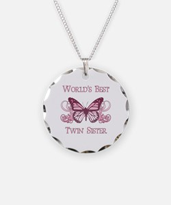 World's Best Twin Sister (Butterfly) Necklace