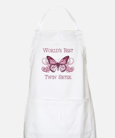 World's Best Twin Sister (Butterfly) Apron