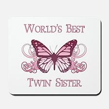 World's Best Twin Sister (Butterfly) Mousepad