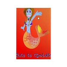 Goldie the Mermaid Phone version Rectangle Magnet