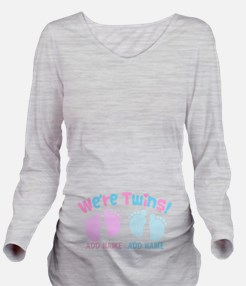 We're Girl and Boy T Long Sleeve Maternity T-Shirt