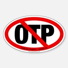 NO OTP Oval Decal