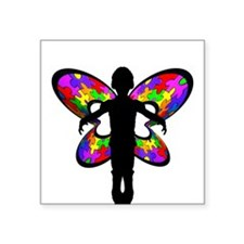 Autistic Butterfly Oval Sticker
