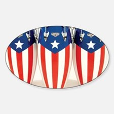 Puerto_Rico_Conga_HR Sticker (Oval)