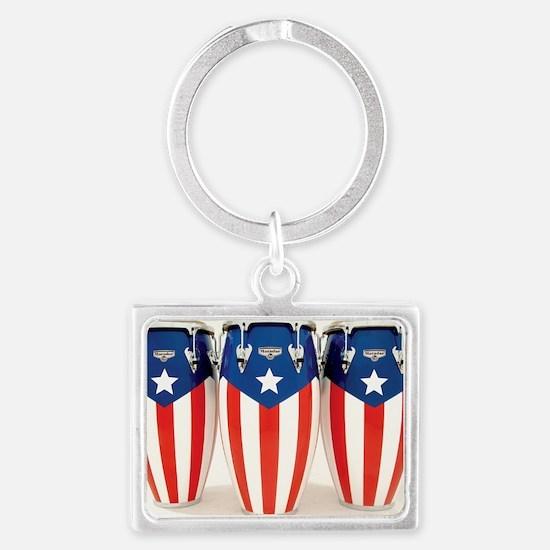 Puerto_Rico_Conga_HR Landscape Keychain