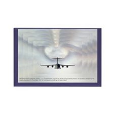 Globemaster Cloud Effect Rectangle Magnet
