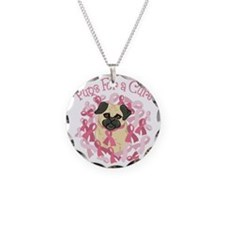 Pugs For A Cure Breast Cance Necklace