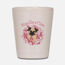 Pugs For A Cure Breast Cancer Pug Shot Glass