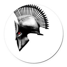 Naughty Spartan Round Car Magnet
