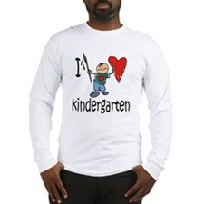 Boy I Love Kindergarten Long Sleeve T-Shirt