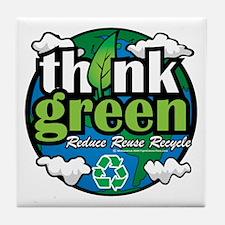 Think-Green-Earth Tile Coaster