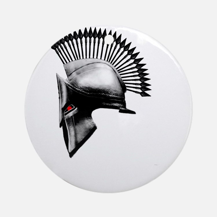 Spartan Round Ornament