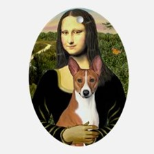 POSTER-small-Mona-Basenji Oval Ornament
