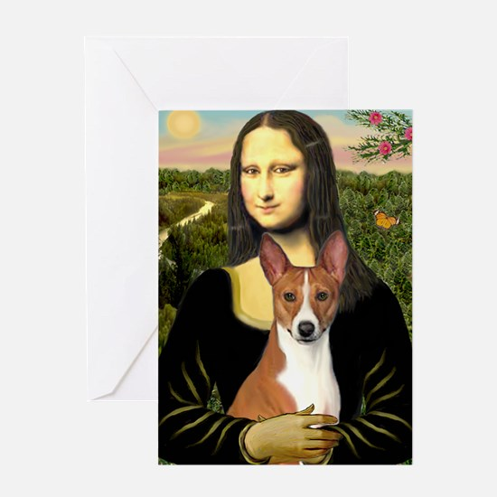 POSTER-small-Mona-Basenji Greeting Card