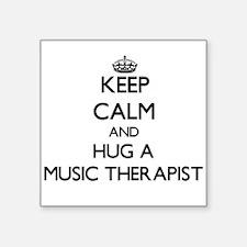 Keep Calm and Hug a Music Therapist Sticker