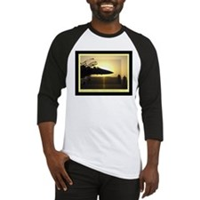 Silhouette at Sunrise Baseball Jersey